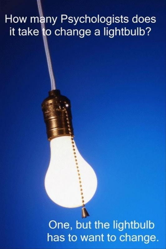 How many psychologists does it take to change a lightbulb ...