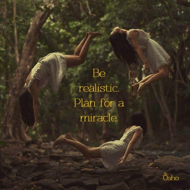 Be realistic. Plan for a miracle Picture Quote #1