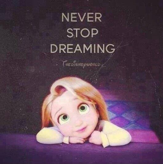 Never stop dreaming Picture Quote #1