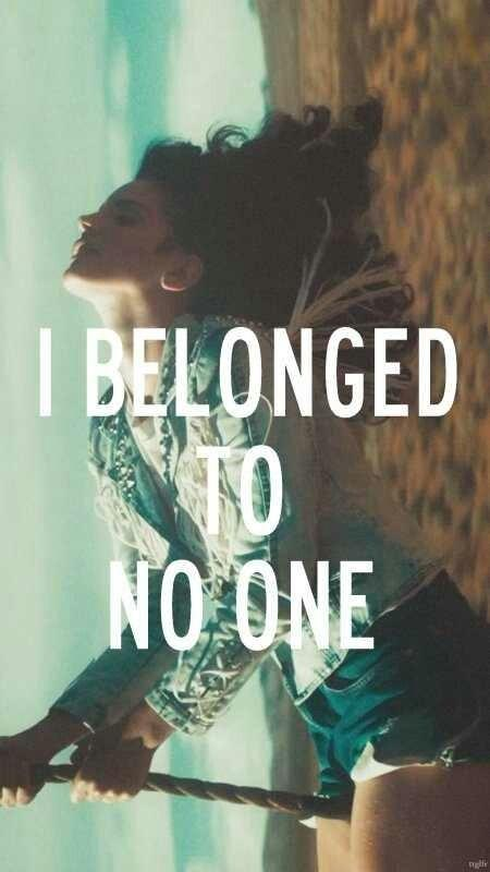 I belonged to no one Picture Quote #1