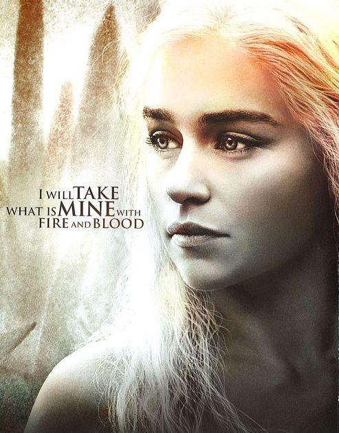 I will take what is mine with fire and blood Picture Quote #2