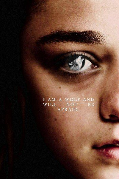 I am a wolf and will not be afraid Picture Quote #1