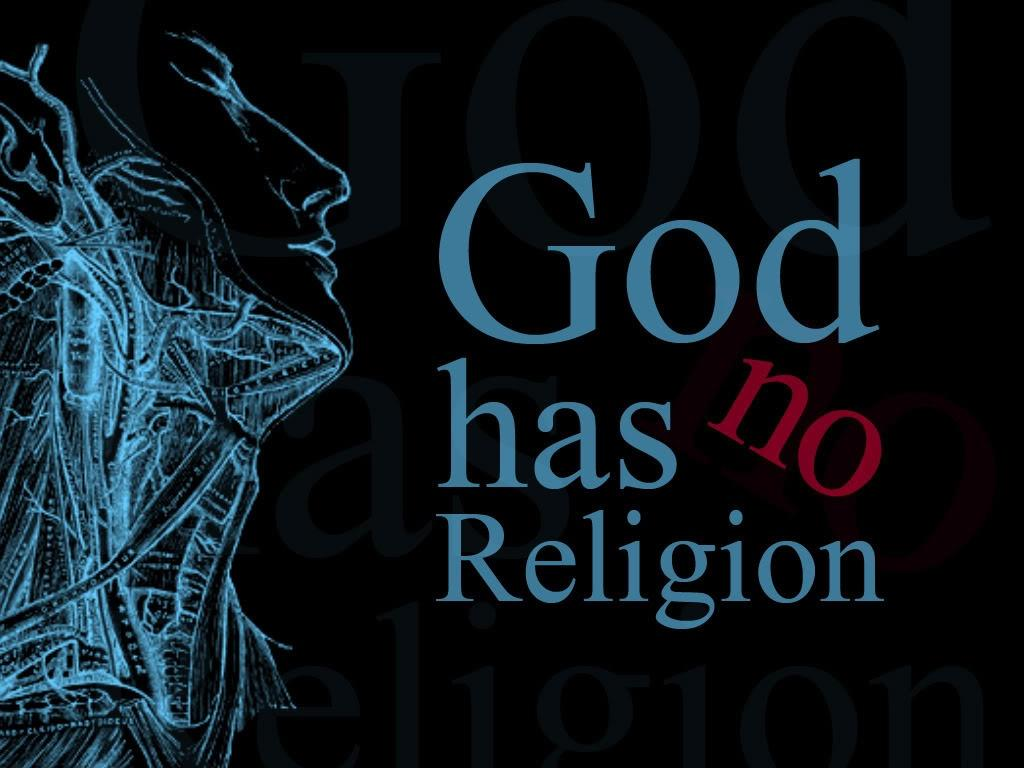 God has no religion Picture Quote #1