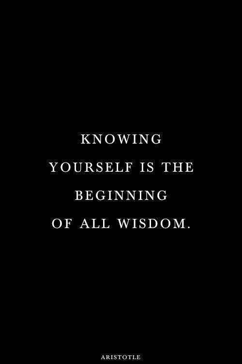 Knowing yourself is the beginning of all wisdom Picture Quote #1