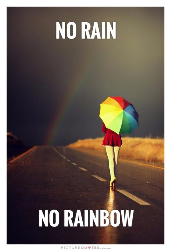 No rain          no rainbow Picture Quote #1