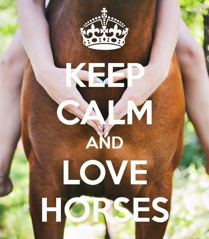 Keep calm and love horses Picture Quote #1