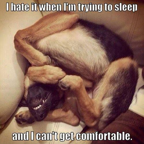 I hate it when I'm trying to sleep and I can't get comfortable Picture Quote #1