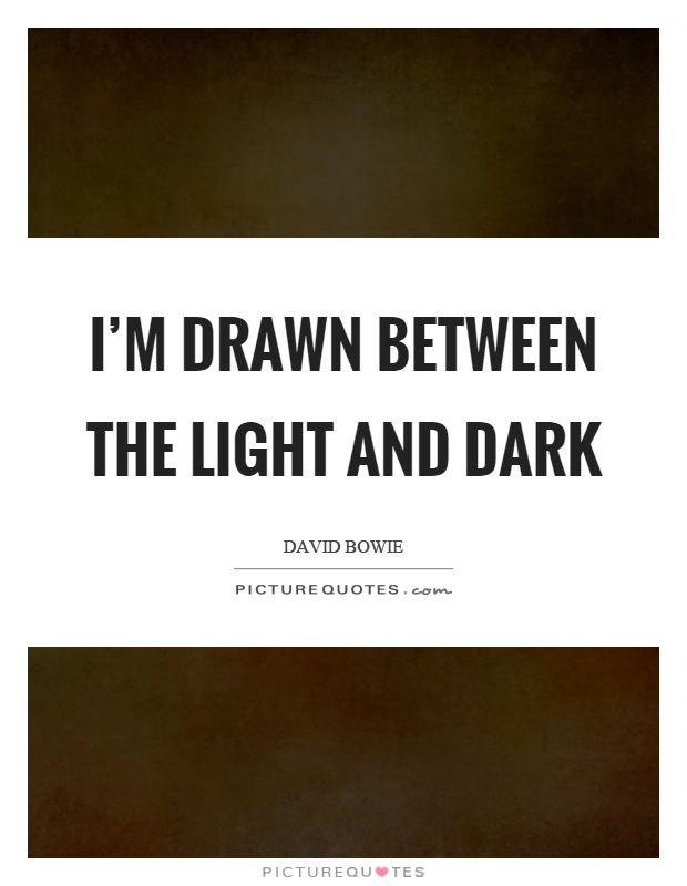 Light And Dark Quotes Classy I'm Drawn Between The Light And Dark  Picture Quotes