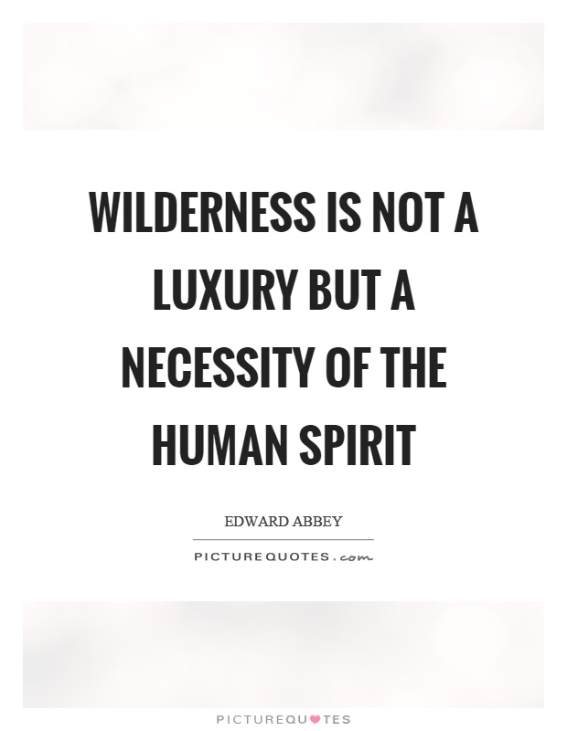 Wilderness is not a luxury but a necessity of the human spirit Picture Quote #1