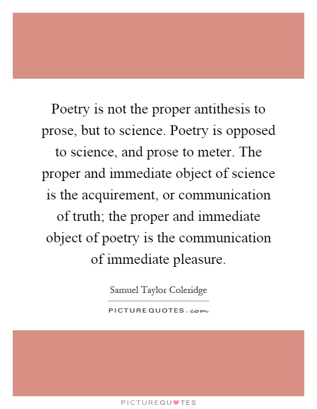 What is an antithesis in poetry