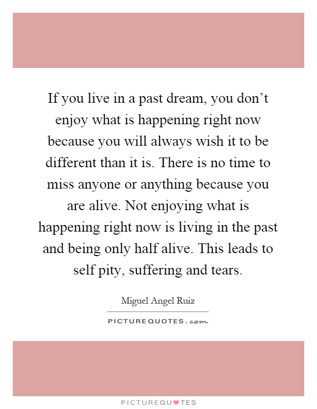 Don T Live In The Past Quotes: Living In The Past Quotes & Sayings