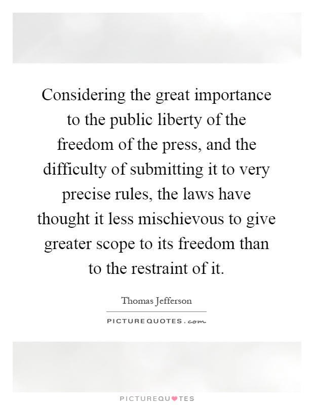 the significance of the freedom of the press in america The importance of freedom of religion  opinions or commentary expressed by the authors of the winning essays in the american freedom essay contest are those of the .