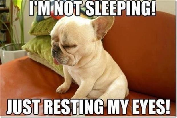 I'm not sleeping. I'm just resting my eyes Picture Quote #1