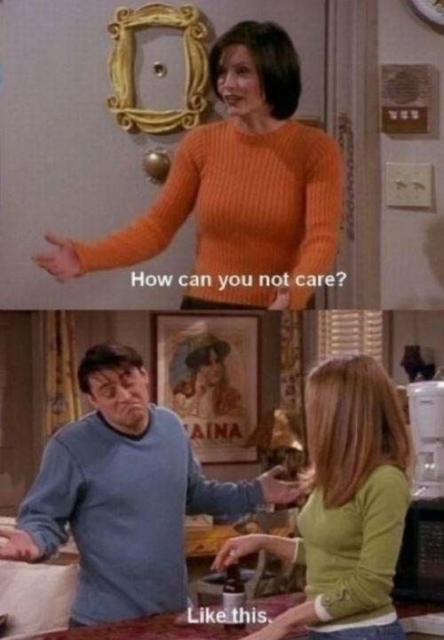 How can you not care? Like this Picture Quote #1