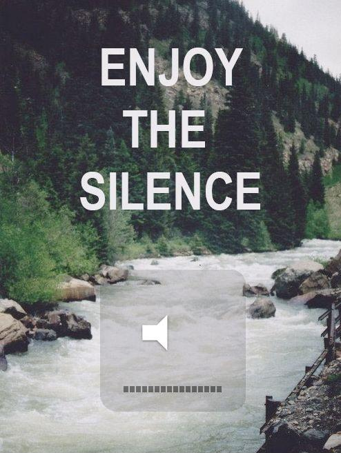 Enjoy the silence Picture Quote #1