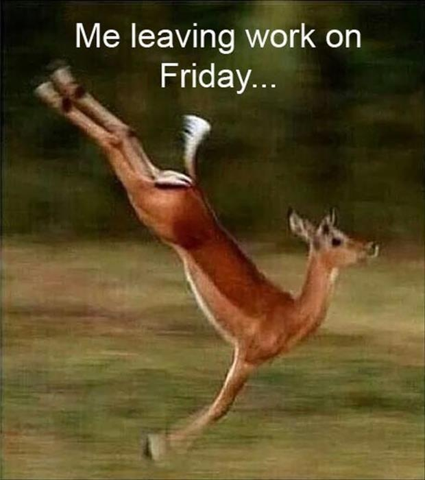 Me leaving work on Friday Picture Quote #1