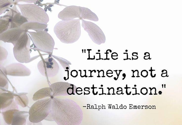 Life is a journey, not a destination Picture Quote #1