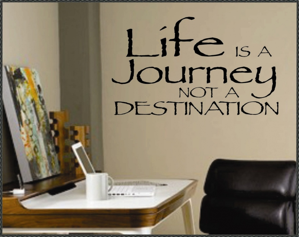 Life is a journey, not a destination Picture Quote #2