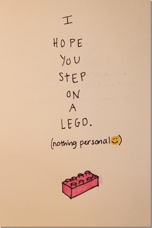 I hope you step on a LEGO Picture Quote #1