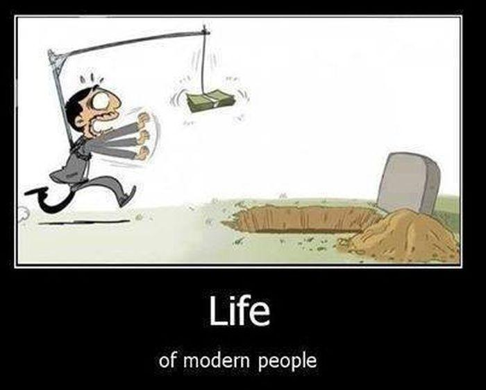 Life of modern people Picture Quote #1