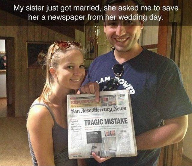 My Sister Marriage Quotes: My Sister Just Got Married, She Asked Me To Save Her