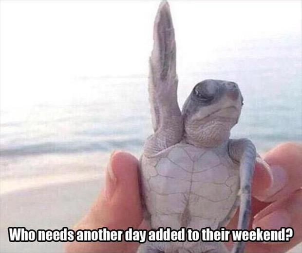 Who needs another day added to their weekend? Picture Quote #1