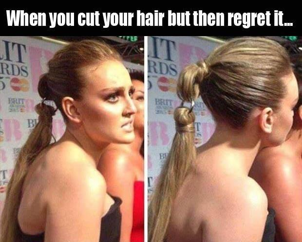 When you cut your hair but then you regret it Picture Quote #1