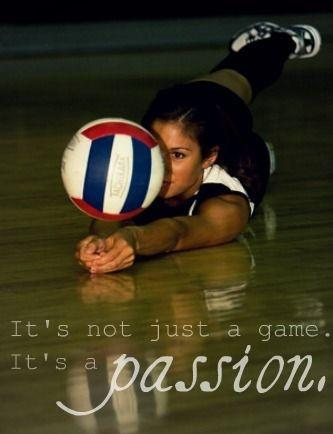 It's not just a game. It's a passion Picture Quote #1