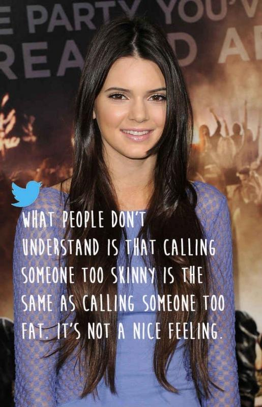 What people don't understand is that calling someone too skinny is the same as calling someone too fat. It's not a nice feeling Picture Quote #1