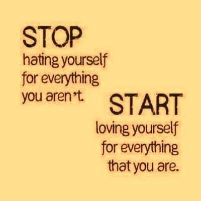 Stop hating yourself for everything you aren't start loving yourself for everything that you are Picture Quote #1