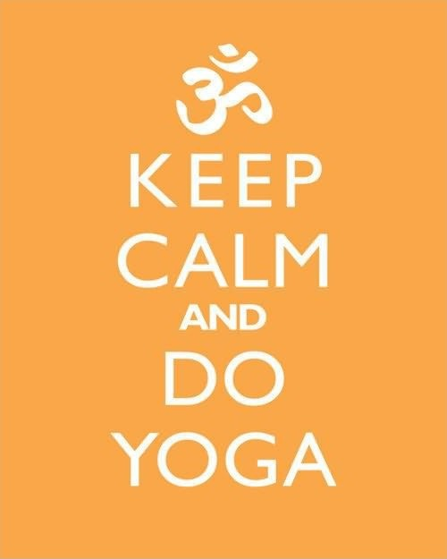 Keep calm and do yoga Picture Quote #1