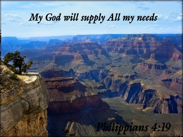 My God will supply all my needs Picture Quote #1