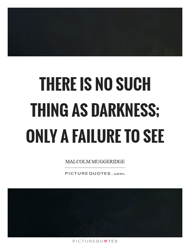 There is no such thing as darkness; only a failure to see Picture Quote #1