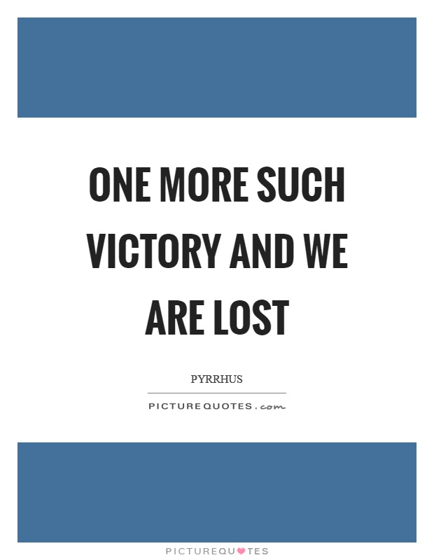 pyrrhic victory synonym