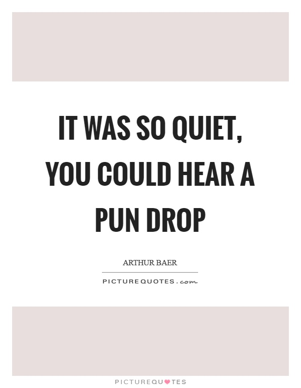 It was so quiet, you could hear a pun drop Picture Quote #1