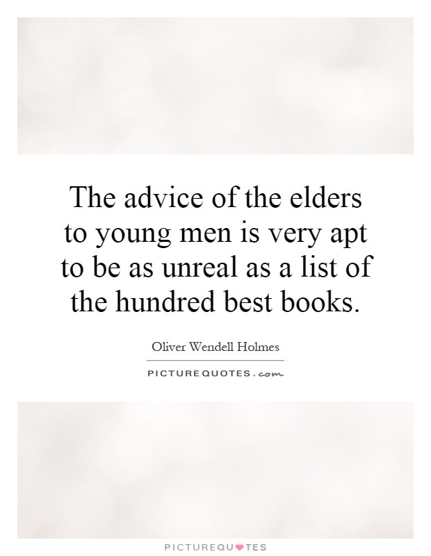 Advice for a New Elder