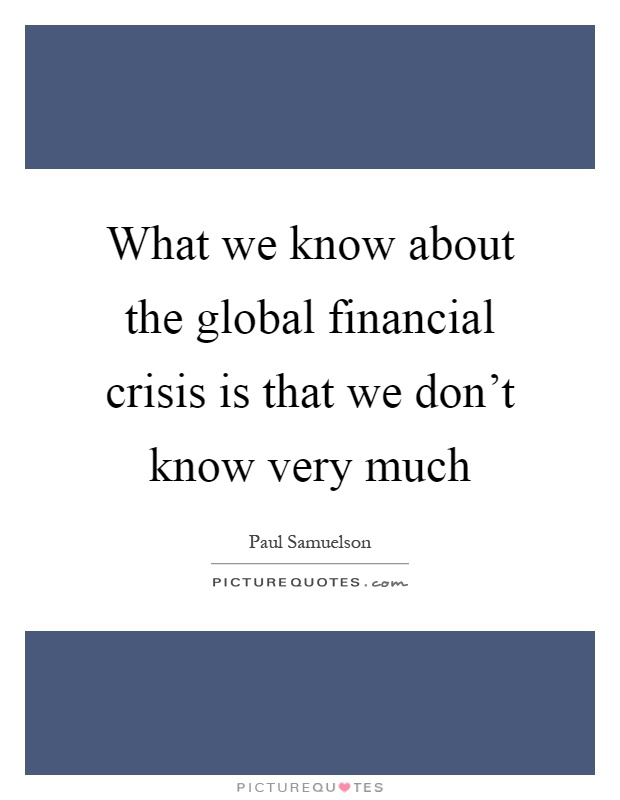 what is financial crisis essay
