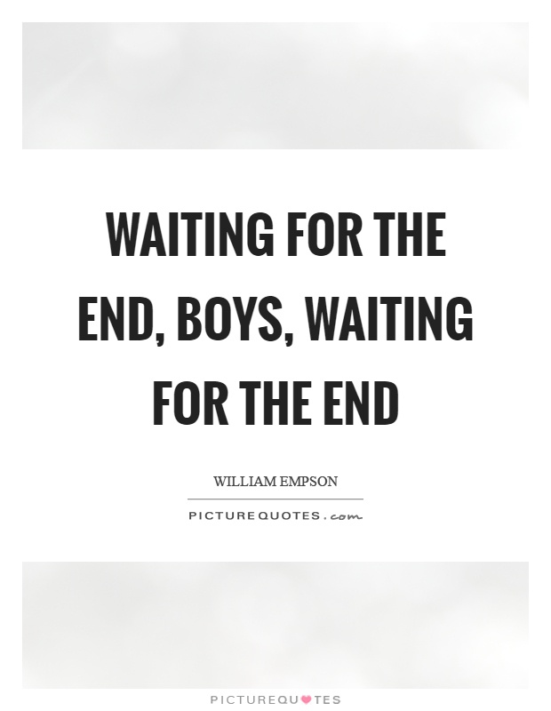 Waiting For The End, Boys, Waiting For The End