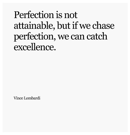 Perfection Quote Picture Quote #1