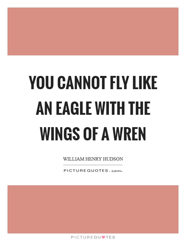 You cannot fly like an eagle with the wings of a wren Picture Quote #1