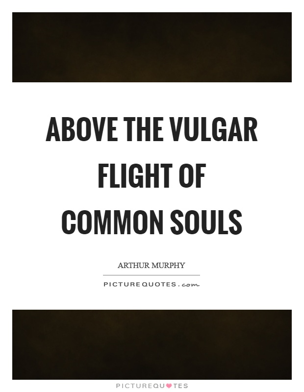 Above the vulgar flight of common souls Picture Quote #1