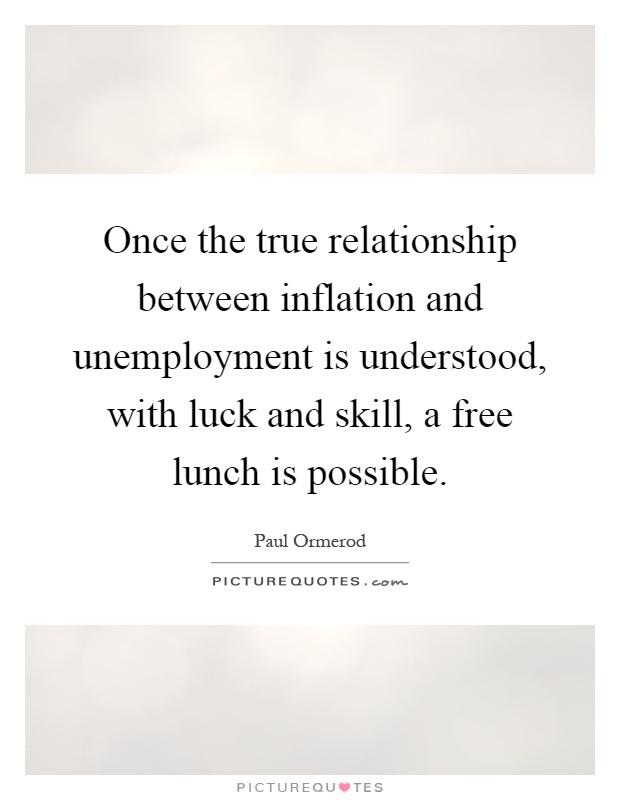 relationship between high inflation unemployment