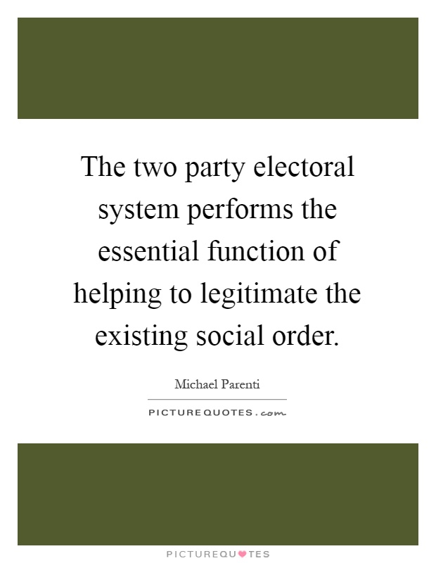electoral system A voting or electoral system is the way we pick our representatives the type of system we use sets the rules for how our politicians behave, whether our governments represent us and whether we can hold them to account if they let us down.