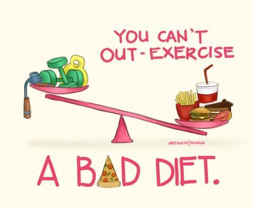 You can't out-exercise a bad diet Picture Quote #1