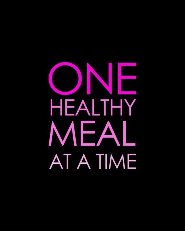 One healthy meal at a time Picture Quote #1