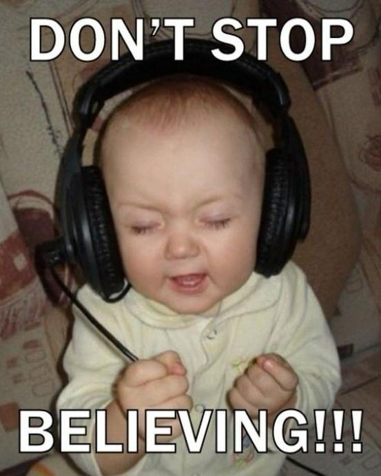 Don't stop believing Picture Quote #1