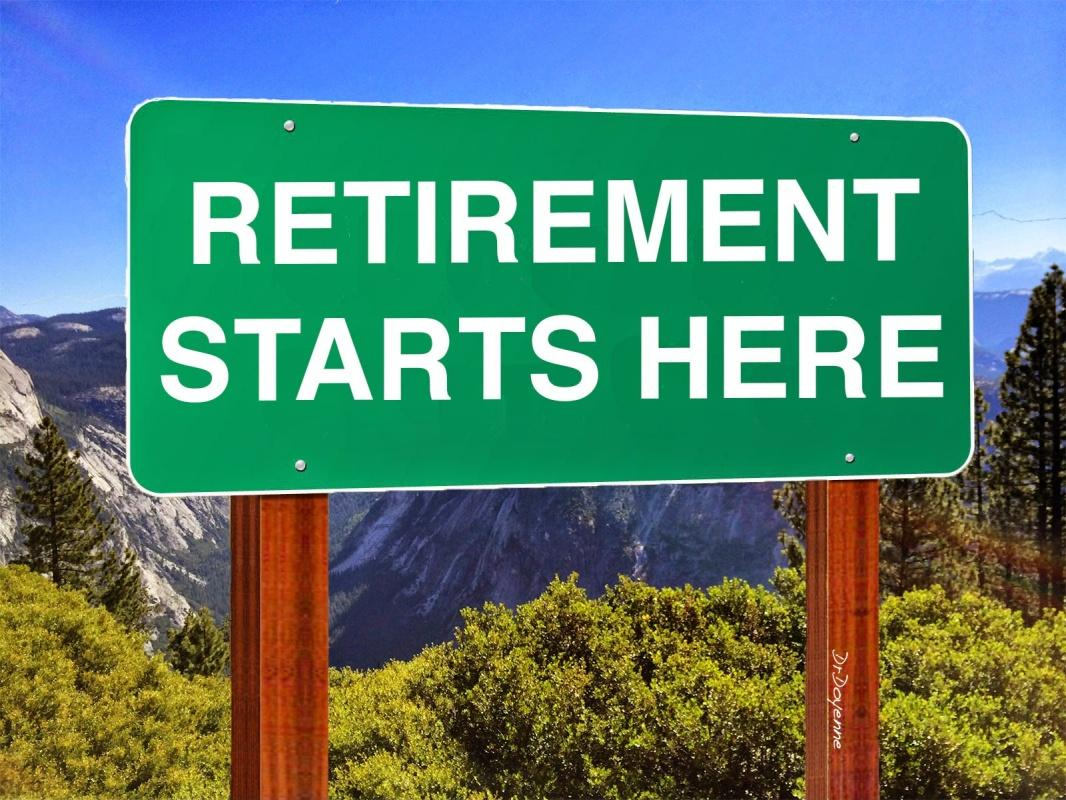 Retirement starts here Picture Quote #1