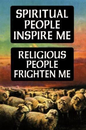 Spiritual people inspire me. Religious people frighten me Picture Quote #1