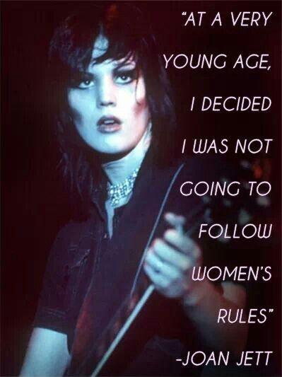 At a very young age I decided I was not going to follow women's rules Picture Quote #1