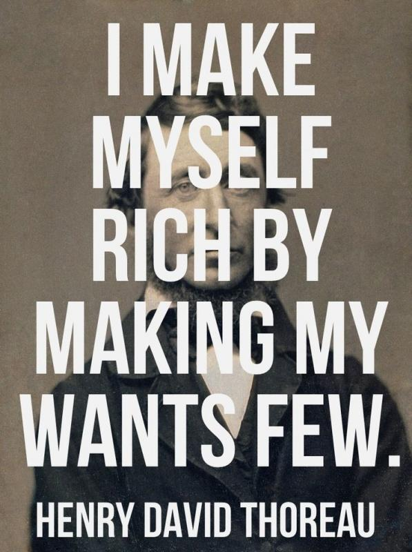 I make myself rich by making my wants few Picture Quote #1